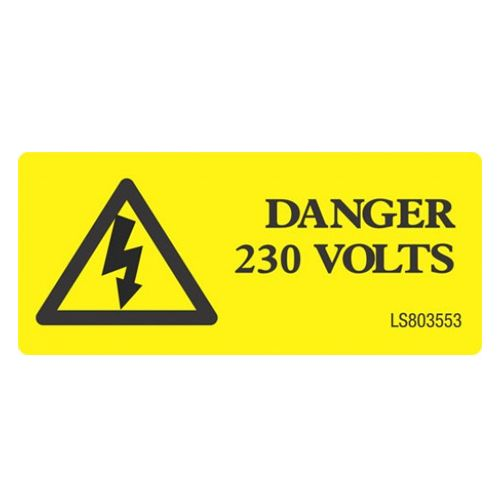 Danger 230 Volts with Triangle - LS803553
