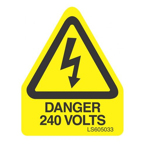 Danger 240 Volts (Triangle) - LS605033