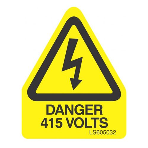 Danger 415 Volts (Triangle) - LS605032