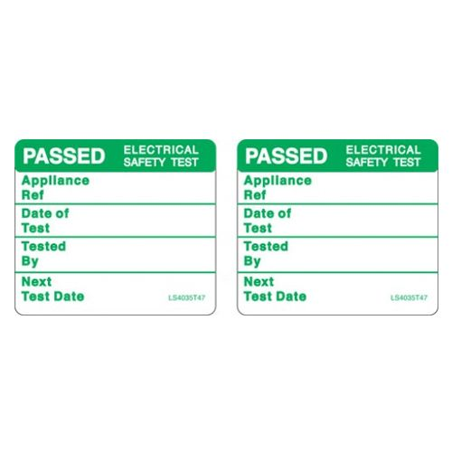 Passed Label - Green x 2 - LS4035T47