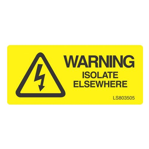 Warning Isolate Elsewhere